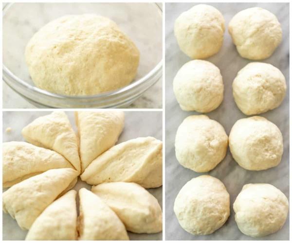 Naan Brot backen Rezept Teig kneten