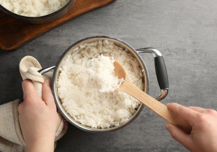 Reisdiät gekochter weißer Reis idealer Sattmacher