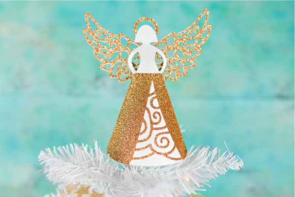 Schutzengel basteln mit Kindern zu Weihnachten – zauberhafte Ideen und Anleitung christbaumspitze engel papier