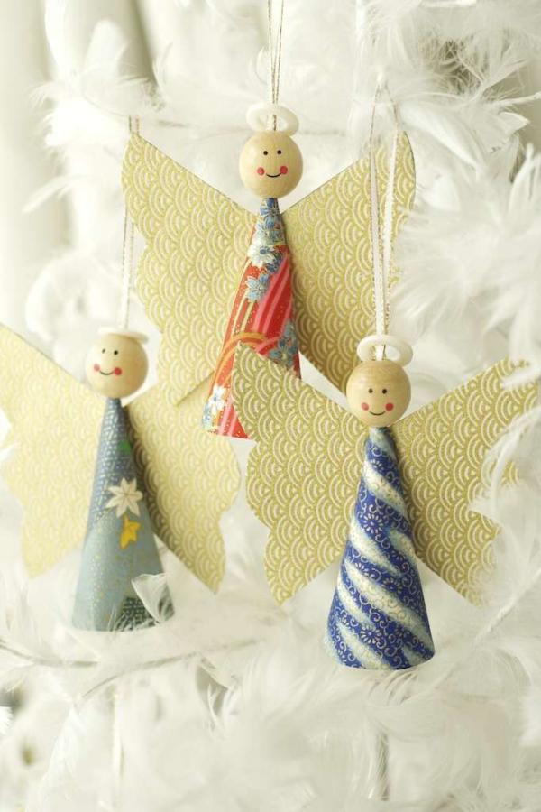 Schutzengel basteln mit Kindern zu Weihnachten – zauberhafte Ideen und Anleitung papier engel schön ornament