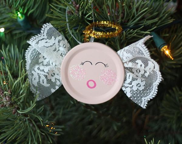 Schutzengel basteln mit Kindern zu Weihnachten – zauberhafte Ideen und Anleitung upcycling ornament engel weihnachten