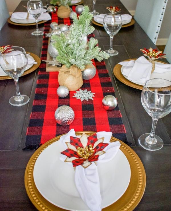 Serviettenringe basteln zu Weihnachten – Stilvolle Ideen und Anleitungen für eine festliche Tischdeko blume tischdeko schön