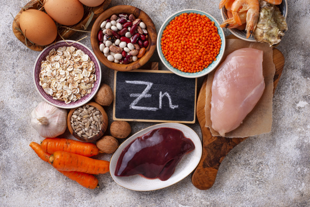 Healthy product sources of zinc.