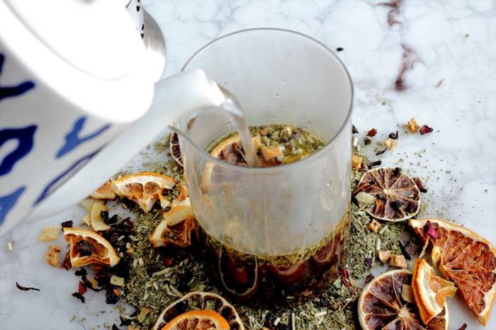 Tee selber machen wintertee weihnachtstee aufguss