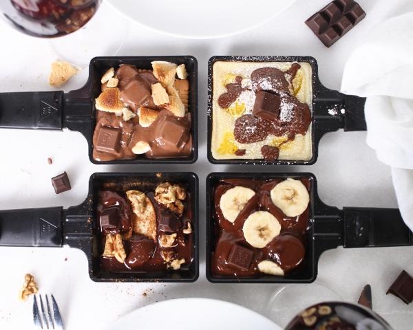 Traditionelle und köstliche Raclette Ideen fürs Pfännchen mit Tipps nachtisch ideen mit schokolade bananen