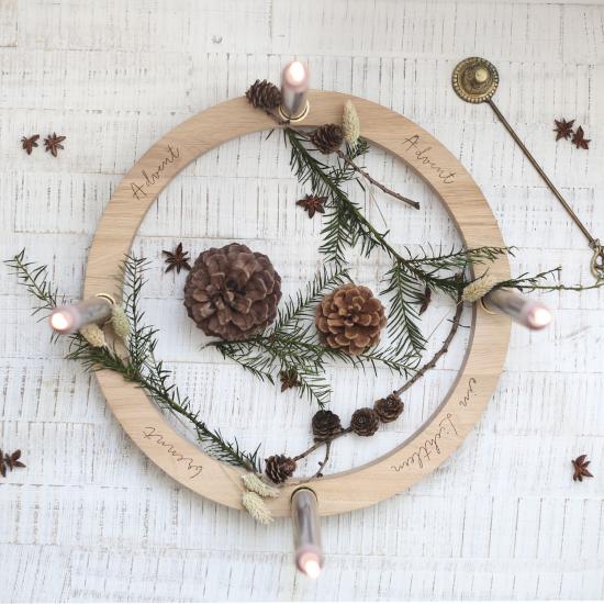 Weihnachsdeko 3 Must-Haves moderne minimalistrische Variante Adventskranz anstatt Kerzen vier LED-Lampen