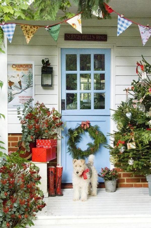 Weihnachtsdeko vor der Haustür – Ideen und Tipps für mehr festliche Stimmung kreative deko vortür