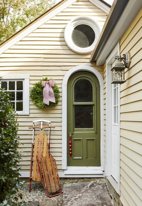 Weihnachtsdeko vor der Haustür – Ideen und Tipps für mehr festliche Stimmung retro deko landhaus ideen