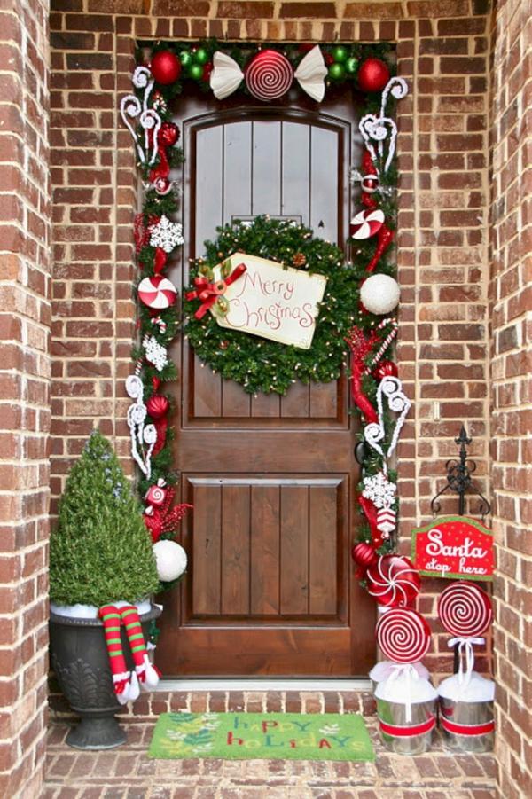 Weihnachtsdeko vor der Haustür – Ideen und Tipps für mehr festliche Stimmung retro ideen süße klassische deko