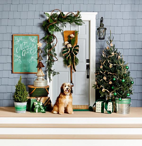 Weihnachtsdeko vor der Haustür – Ideen und Tipps für mehr festliche Stimmung schöne deko ideen blau grün