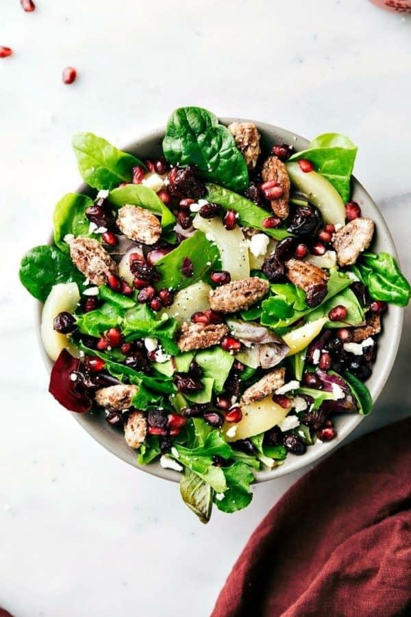 Weihnachtsmenü Ideen Weihnachtsfeier veranstalten Salad Vorspeise