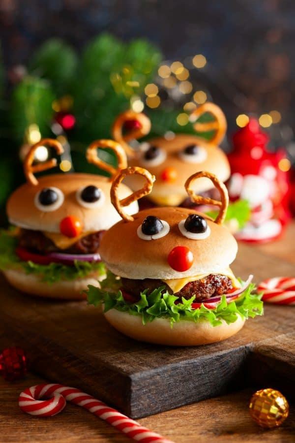 Weihnachtsmenü Ideen und Tipps Weihnachtsfeier veranstalten thematische Burger