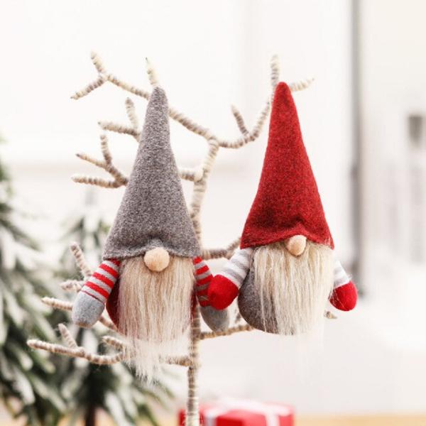 Weihnachtswichtel basteln – Ideen und Anleitung für eine fantastische Winterdeko tomte ornamente nisse christbaum