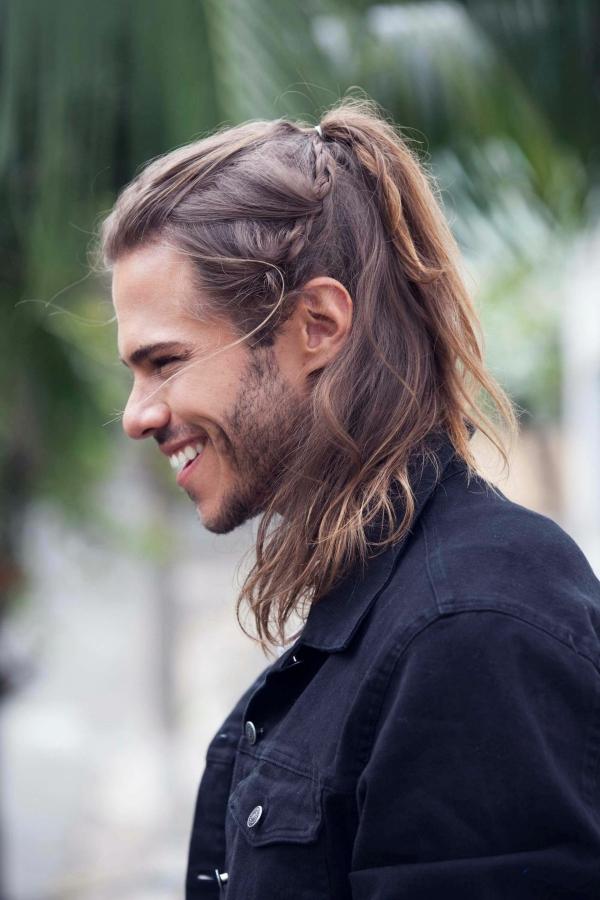 Wikinger Frisuren für Damen und Herren, inspiriert von der nordischen Kultur herren pferdeschwarz zöpfe