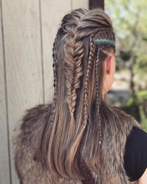 Wikinger Frisuren für Damen und Herren, inspiriert von der nordischen Kultur lagertha frisur zöpfe