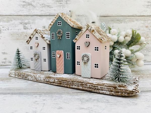 Winterlandschaft basteln – weihnachtliche Ideen, fantastisch einfache Anleitungen und Tipps dorf deko holz diy