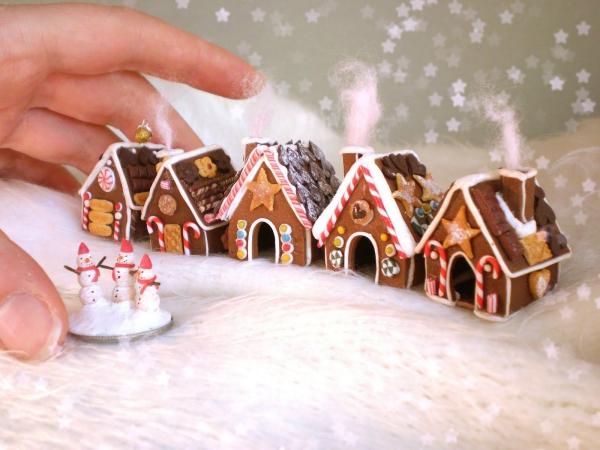 Winterlandschaft basteln – weihnachtliche Ideen, fantastisch einfache Anleitungen und Tipps fimo häuser figuren diy