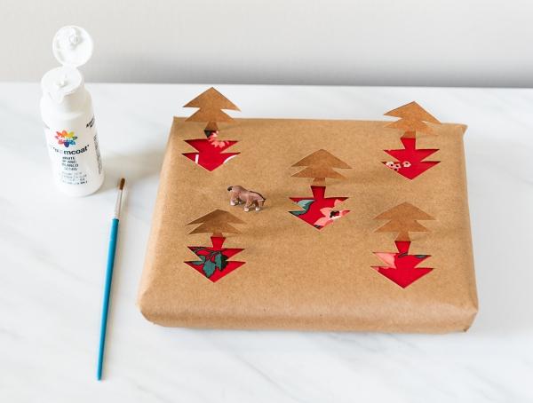 Winterlandschaft basteln – weihnachtliche Ideen, fantastisch einfache Anleitungen und Tipps geschenkverpackung ideen wald pferd