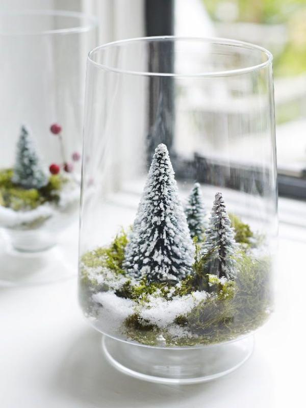 Winterlandschaft basteln – weihnachtliche Ideen, fantastisch einfache Anleitungen und Tipps landschaft in glas deko