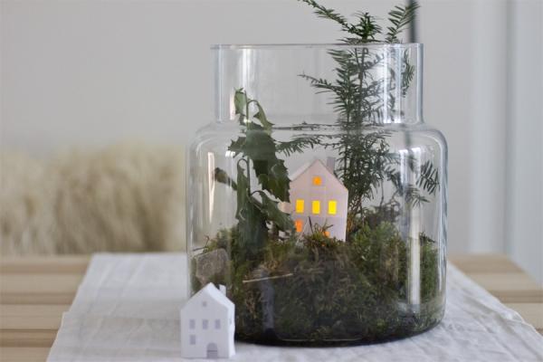 Winterlandschaft basteln – weihnachtliche Ideen, fantastisch einfache Anleitungen und Tipps landschaft moos in glas