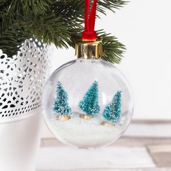 Winterlandschaft basteln – weihnachtliche Ideen, fantastisch einfache Anleitungen und Tipps ornament weihnachten bäume