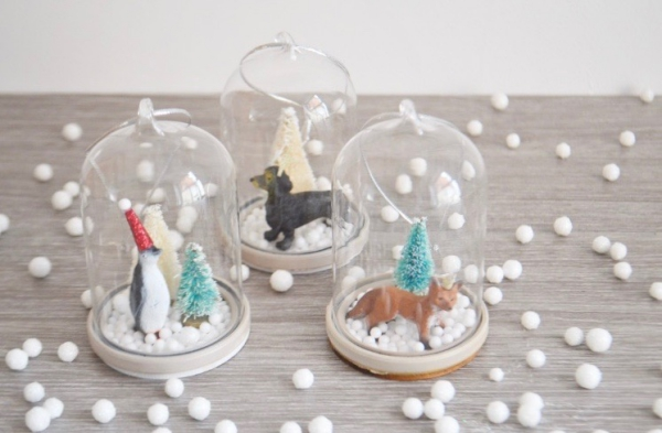 Winterlandschaft basteln – weihnachtliche Ideen, fantastisch einfache Anleitungen und Tipps tiere schneekugel landschaften