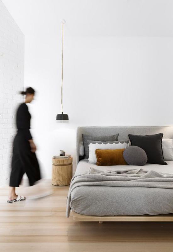 Zen Schlafzimmer Elemente traditioneller japanischer Raumgestaltung einfache Möbel aufs Minimum reduziert