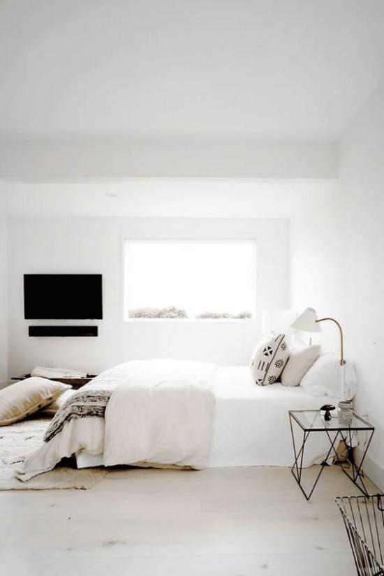 Zen Schlafzimmer Vorsicht keine Geräte im Schlafzimmer kein Fernseher an der Wand verbannt vom Raum