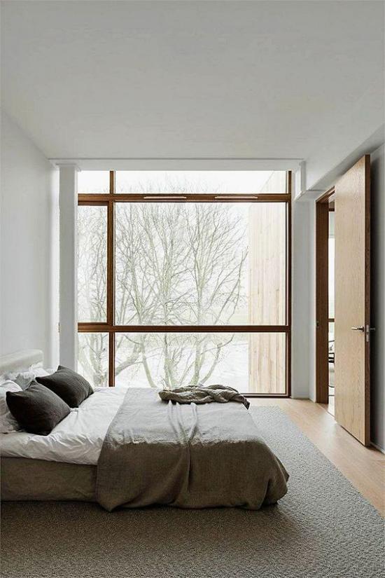 Zen Schlafzimmer ruhige ausgewogene Atmosphäre einen erholsamen Schlaf genießen
