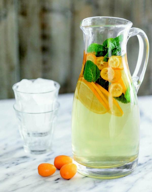 detox wasser mit kumquat zubereiten