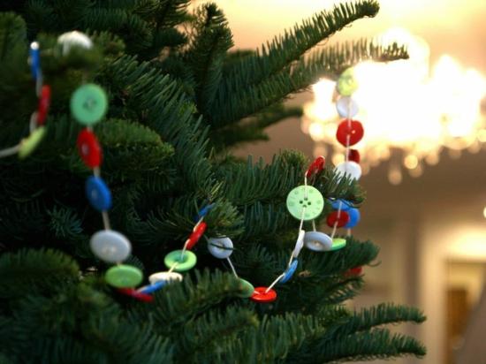 einfache girlande günstige weihnachtsdeko