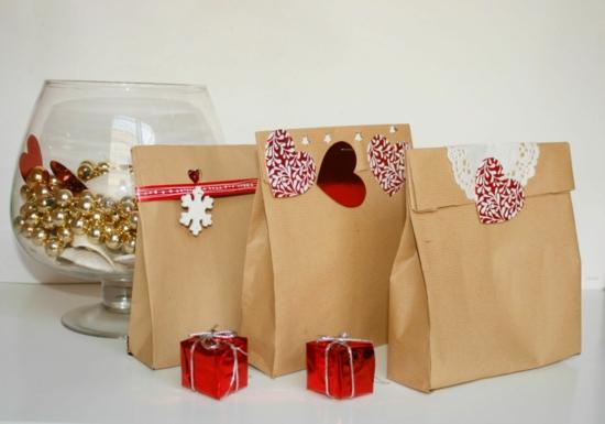 elegante geschenktüte basteln aus karton
