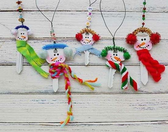 günstige weihnachtsdeko basteln aus alten schlüsseln
