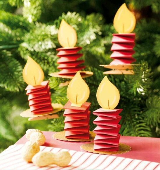 günstige weihnachtsdeko basteln aus papier