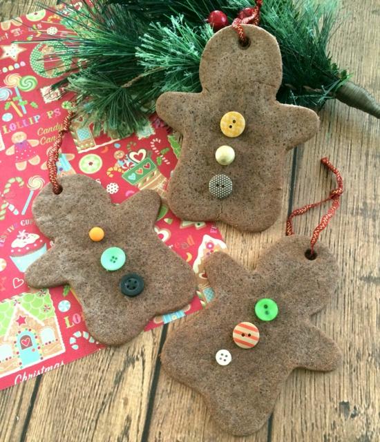 günstige weihnachtsdeko basteln christbaumschmuck aus salzteig