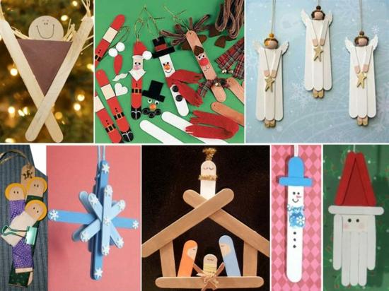 günstige weihnachtsdeko basteln mit eisstielen