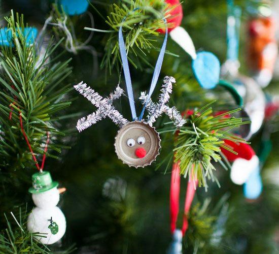günstige weihnachtsdeko basteln upcycling christbaumschmuck