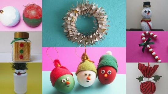 günstige weihnachtsdeko basteln upcycling