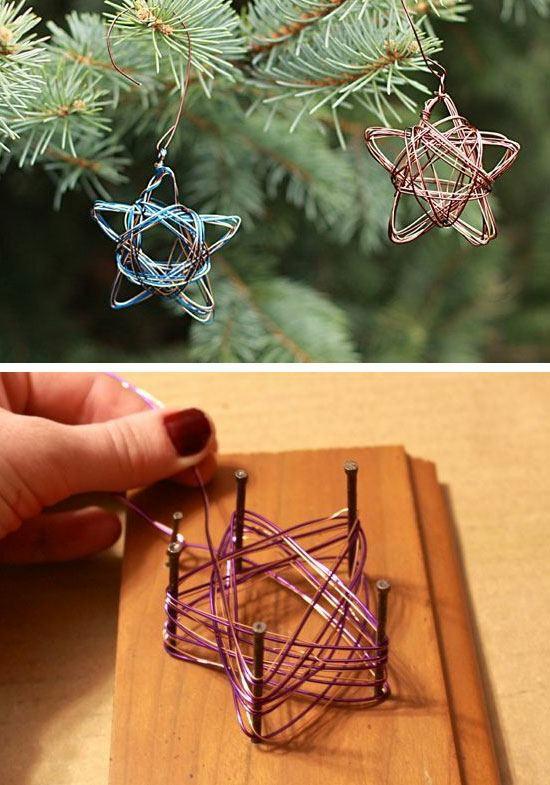 günstige weihnachtsdeko einfache sterne aus draht
