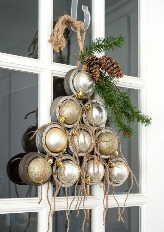 günstige weihnachtsdeko fenster dekorieren