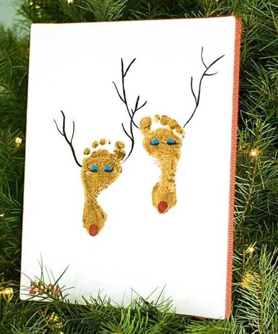 günstige weihnachtsdeko fußabdruck rentiere zeichnen