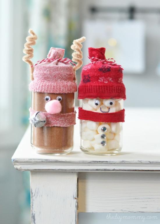 günstige weihnachtsdeko gläser dekorieren