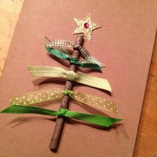 günstige weihnachtsdeko grußkarten basteln