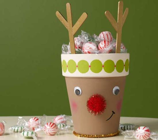 günstige weihnachtsdeko lustige diy idee rudolf rentier