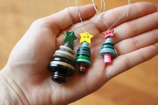 günstige weihnachtsdeko mini christbaumschmuck anhänger basteln
