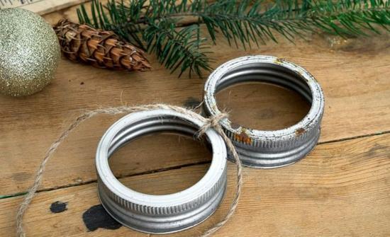 günstige weihnachtsdeko mit einmachgläsern basteln