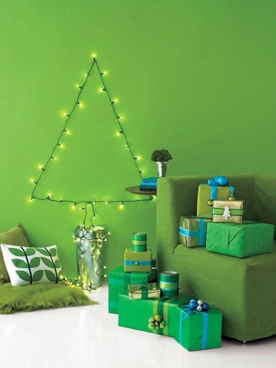 günstige weihnachtsdeko nachhaligen tannenbaum basteln