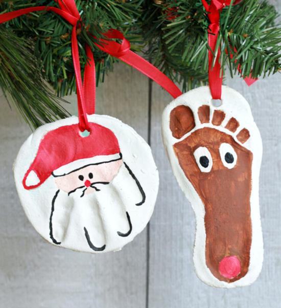 günstige weihnachtsdeko salzteig anhänger basteln