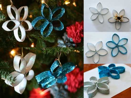 günstige weihnachtsdeko sterne aus klopapierrollen