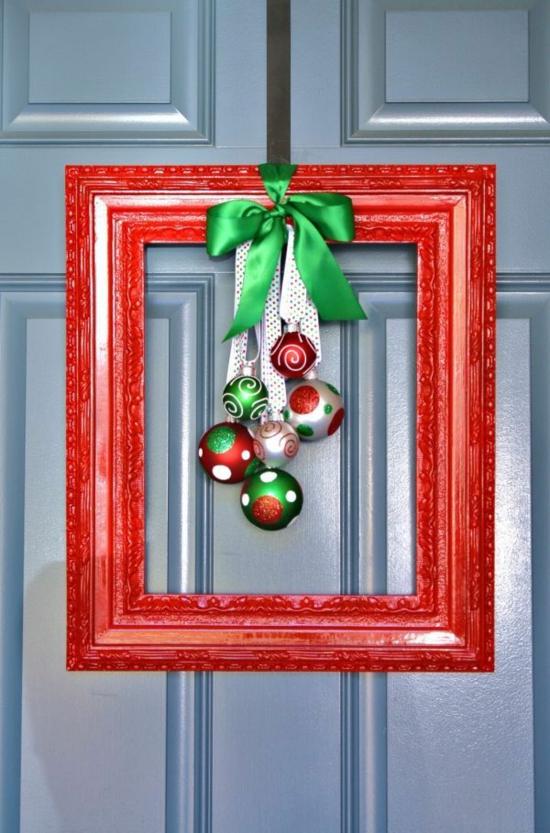 günstige weihnachtsdeko türdeko bildrahmen christbaumschmuck